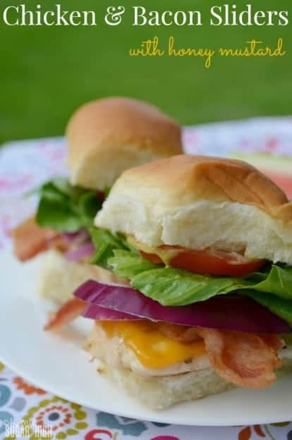 Looks like lunch! Chicken & Bacon Sliders from Oh My Sugar High
