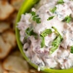 This dip recipe is full of fresh flavors and is perfect for a hot summer day!