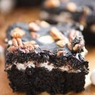 Thick and fudgy Mississippi Mud Brownies!