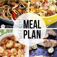 An easy weekly meal plan full of creative recipes from bloggers you love!