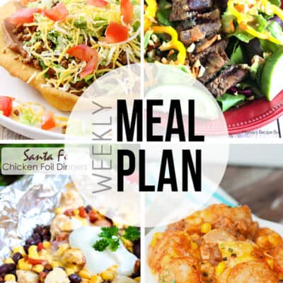 Easy weekly meal plan with lots of variety!