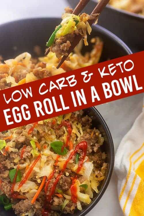Egg roll in a bowl is one of our favorite meals to have as leftovers. So good when you make, so good the next day too! #leftovers #lowcarb #keto #eggroll