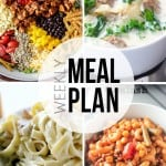 An easy weekly meal plan full of creative dinner and dessert recipes!