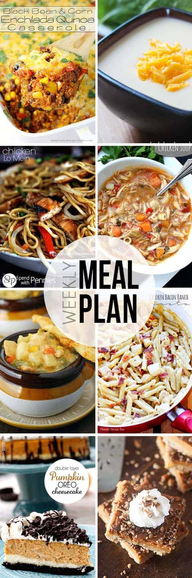An easy meal plan for weeknight dinners!