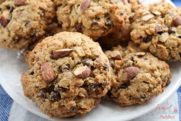 ... Salted Caramel Almond Chocolate Chip Cookies from Frugal Foodie Mama