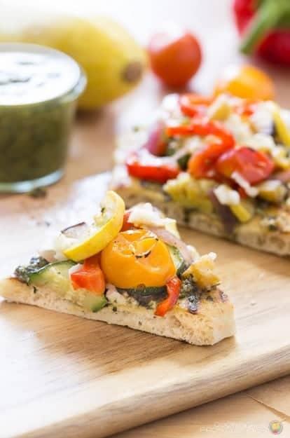 Veggie Flatbread Slice