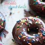 Baked chocolate sprinkle donuts!