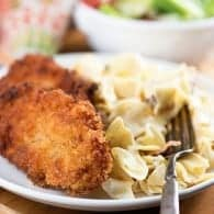 When you see how easy the cream cheese egg noodles are, you'll love it! And the fried pork chops pair perfectly!