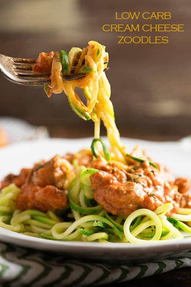 low carb cream cheese zoodles. Black Bedroom Furniture Sets. Home Design Ideas