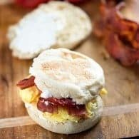 Breakfast BLT - a hearty and filling breakfast sandwich. We love these sandwiches before school to keep bellies full!