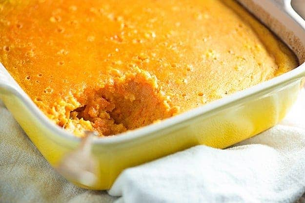 Carrot Custard - this side dish is full of warm cinnamon and sweet carrots! I could eat it for dessert, too!