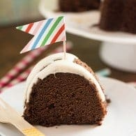 Rich and moist chocolate pound cake made in a bundt pan. My family loves who dense and full of chocolate this cake is!