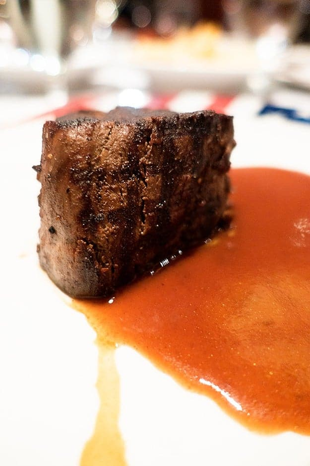A delicious steak from the Crown Grill on the Ruby Princess!