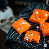 Creepy Cake Bars! The perfect Halloween snack cake for kids.