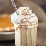 An unbelievably easy and clever recipe for pumpkin pie milk shakes!