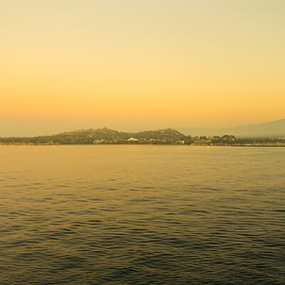 The view of Santa Barbara aboard the Ruby Princess!