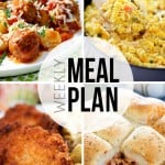 An easy weekly meal plan with lots of delicious recipes!