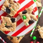 These easy Christmas cookies are loaded with peanut butter, Oreo cookies, and peanut butter m&m candies! Perfect holiday dessert!