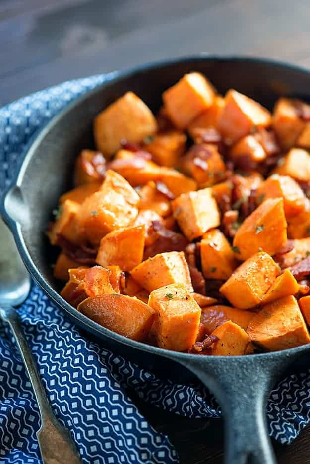 Buns In My Oven Maple Bacon Roasted Sweet Potatoes — Buns In My Oven
