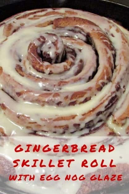 Gingerbread Skillet Roll