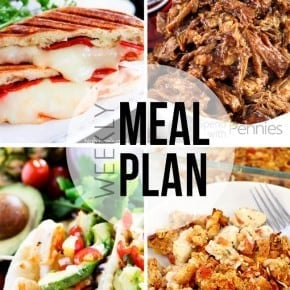 An easy weeklly meal plan!