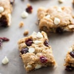 WHITE CHOCOLATE CRANBERRY OATMEAL BARS