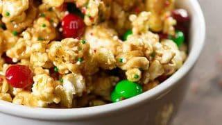 Peanut Butter Marshmallow Christmas Popcorn