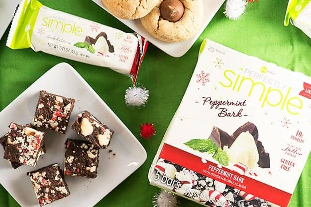 ZonePerfect Perfecly Simple Peppermint Bark - perfect for holiday snacks and parties!
