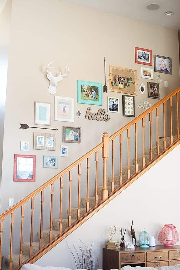 Bright, colorful, and quirky gallery wall decor!