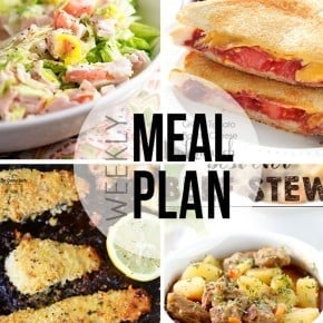 An easy weekly mean plan! This week's recipes are for lots of soup, pasta, and comfort food!