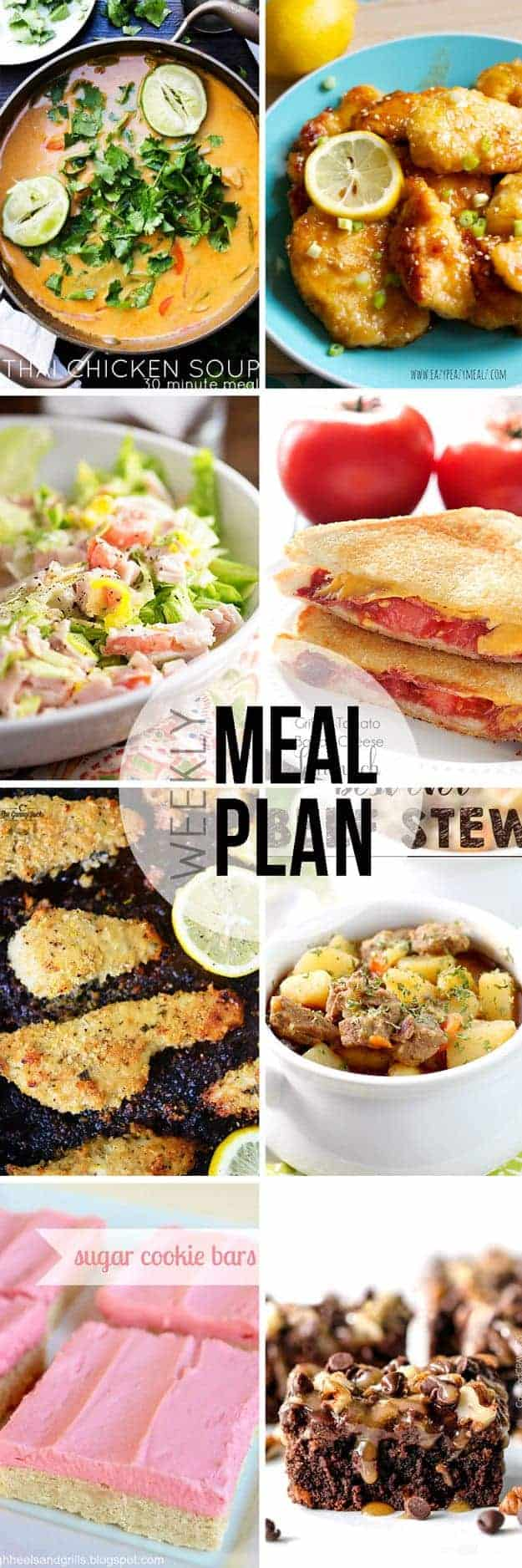 An easy weekly mean plan! This week's recipes are for lots of soup, salad, and comfort food!