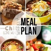 An easy weekly meal plan full of soups and comfort foods!