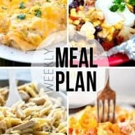 An easy weekly meal plan! This week is full of cheesy pastas and comfort food!