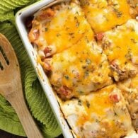 This taco lasagna is such an easy weeknight dinner and perfect for those nights when you're tired of regular tacos.