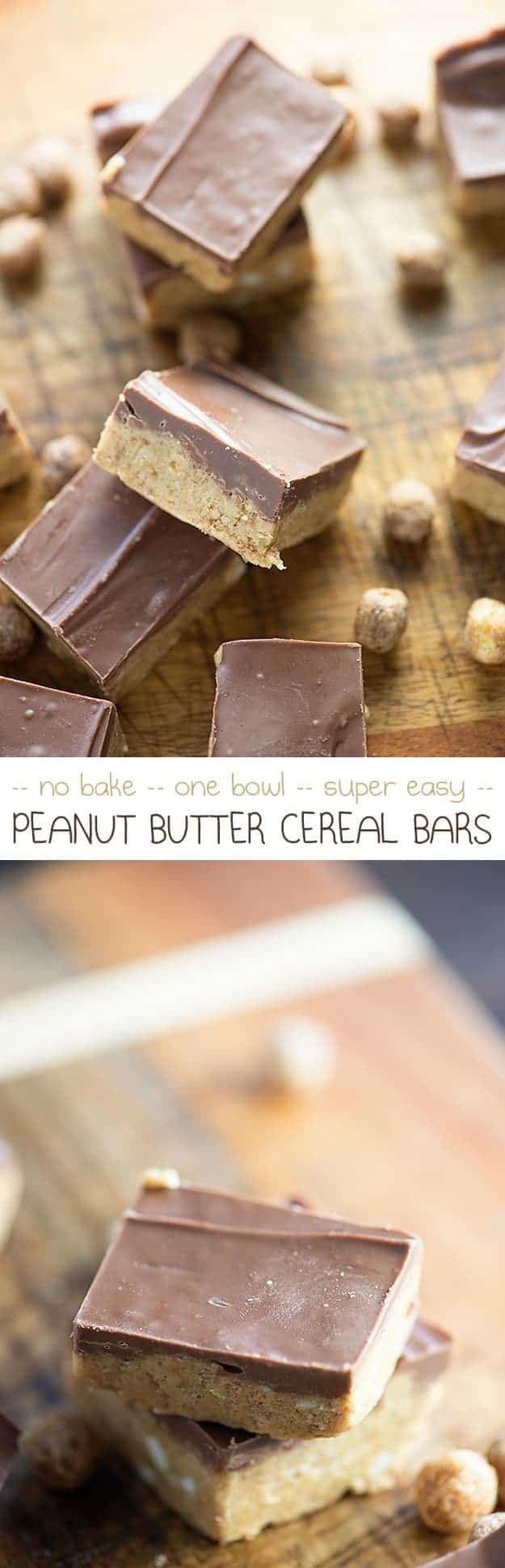 Chocolate icing on a peanut butter bar.