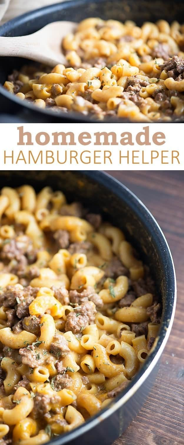 Hamburger helper in a bowl.