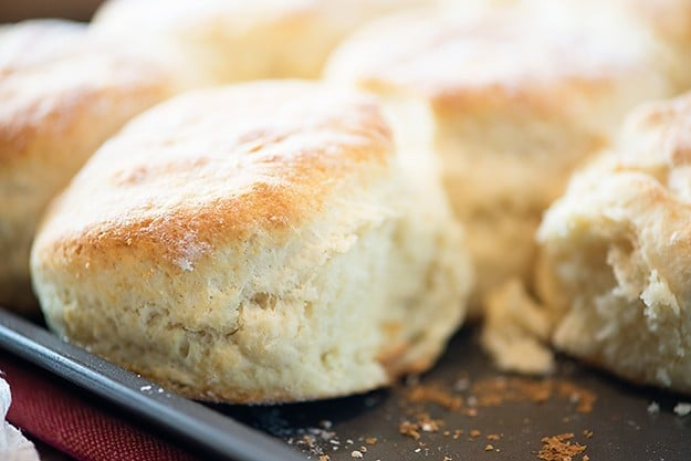 All of my dad's secrets for how to make homemade biscuits! These things are so light and fluffy and perfect!