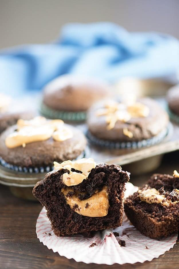 Peanut Butter Filled Chocolate Muffins — Buns In My Oven