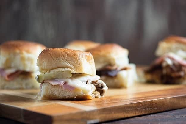 This mini Cuban sandwiches are the perfect use for that pulled pork!