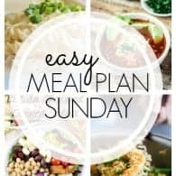 An easy weekly meal plan full of family friendly recipes for busy weeknights!