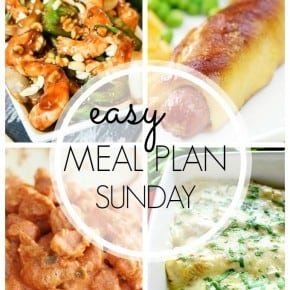 An easy weekly meal plan full of family friendly recipes!