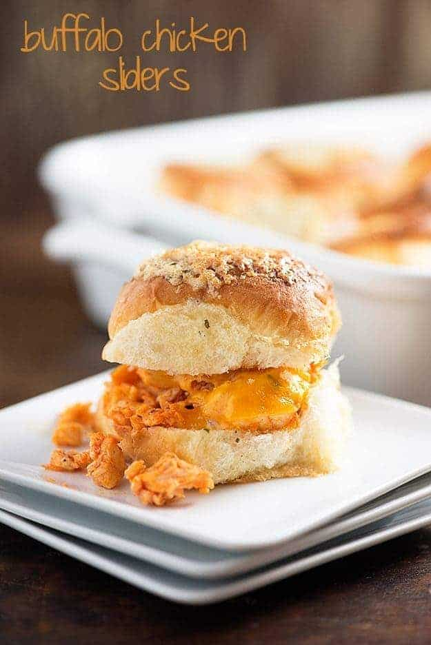 These buffalo chicken sliders are so easy to make! I love them for a quick dinner or snack!
