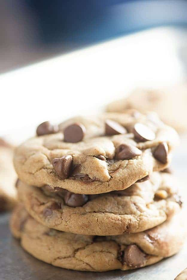 stack of the perfect chocolate chip cookies