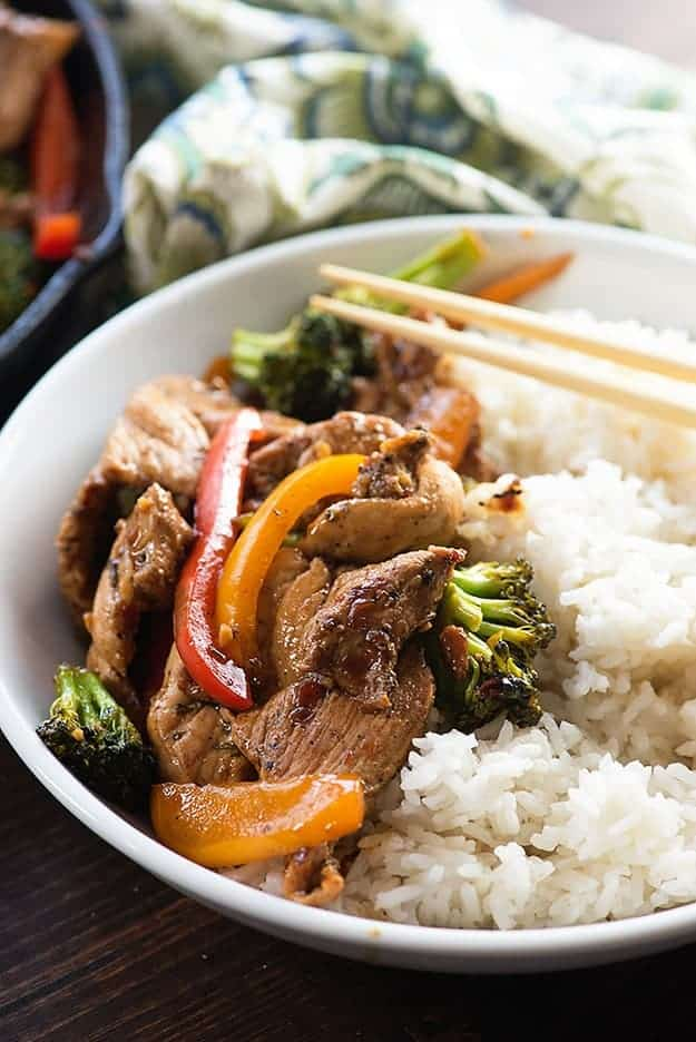 Forget the take out! This pork stir fry is ready in less than 30 minutes!