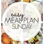 An easy weekly meal plan that's full of family favorite recipes! Check out the 7 layer burrito!!