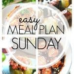 This week's meal plan is full of summer time favorites - kebabs, chicken wraps, and fajita stuffed peppers!
