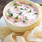 This cream cheese salsa dip is my favorite addition to taco night!