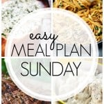 An easy weekly meal plan that the whole family will love!