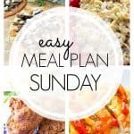 An easy weekly meal plan full of cheesy pasta, flatbread, and fried chicken! All kinds of good stuff this week.