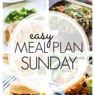 An easy weekly meal plan!